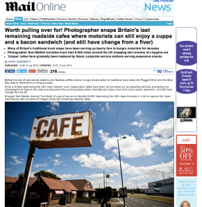 Roadside Britain reaches the Mail Online