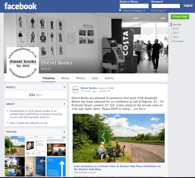 diesel books Facebook page