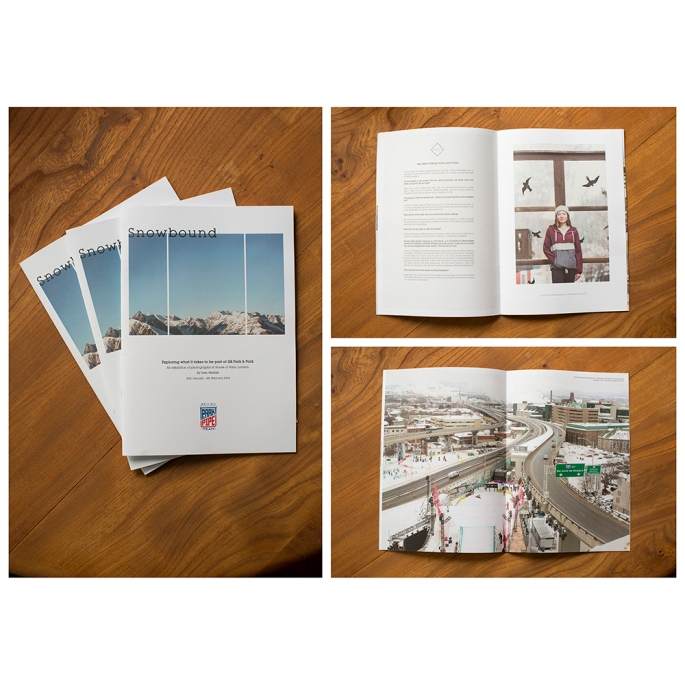 Snowbound exhibition booklet by Diesel Books & Sam Mellish